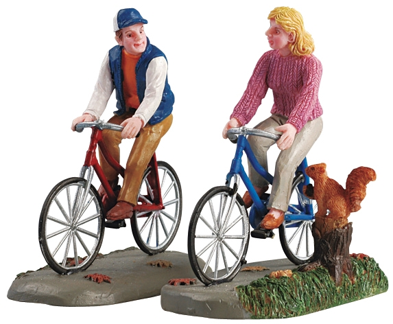 Romantic Bike Ride, Set Of 2 Lemax Village