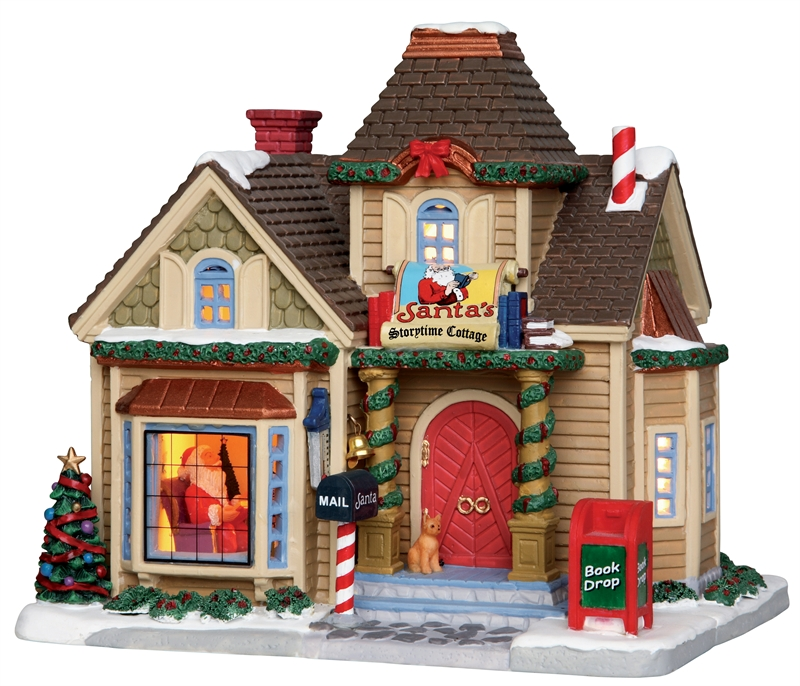Santa's Storytime Cottage Lemax Village