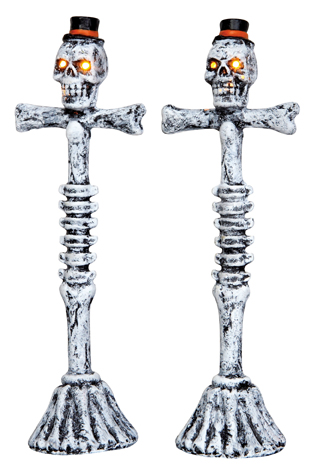 Scary Lamp Post, Set Of 2 Lemax Village