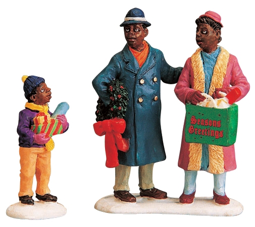 Shopping Together, Set Of 2 Lemax Village