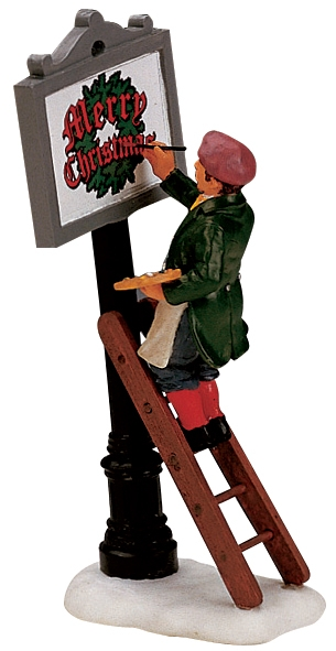Sign Painter Lemax Village