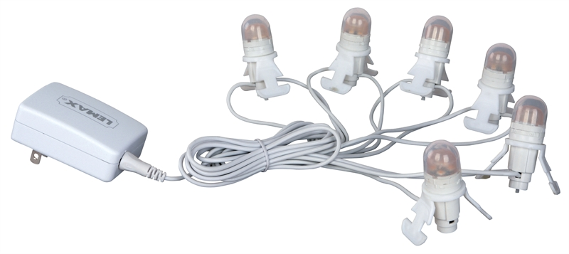 Six Led Light Cord Lemax Village