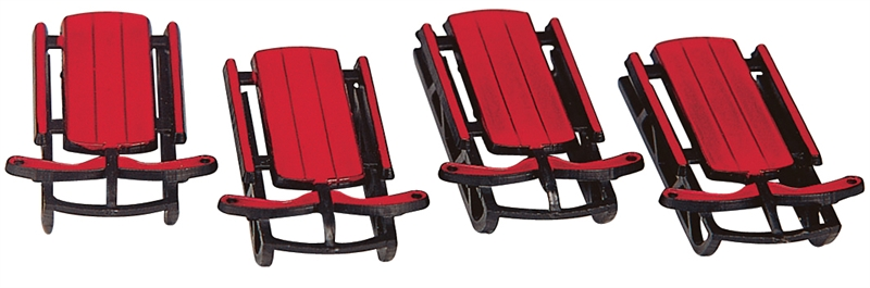 Sled, Set Of 4 Lemax Village