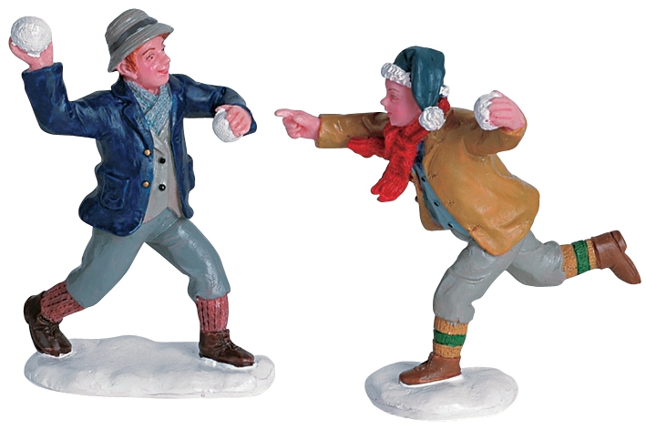 Snowball Fun, Set Of 2 Lemax Village