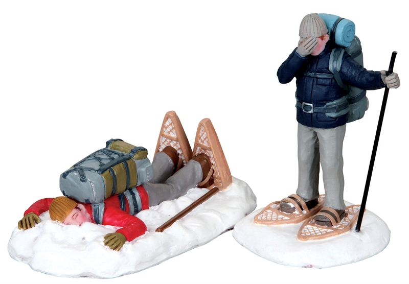 Snowshoe Stumble, Set Of 2 Lemax Village