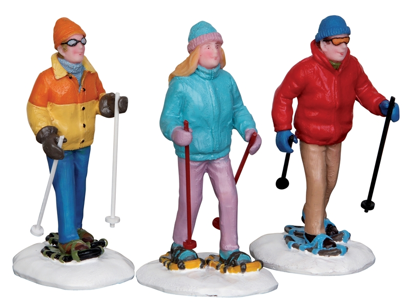 Snowshoe Walkers, Set Of 3 Lemax Village