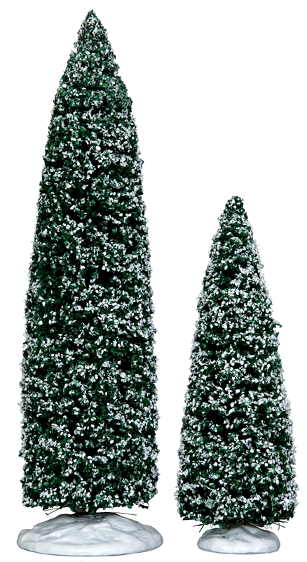 Snowy Juniper Tree, Large & Medium, Set Of 2 Lemax Village