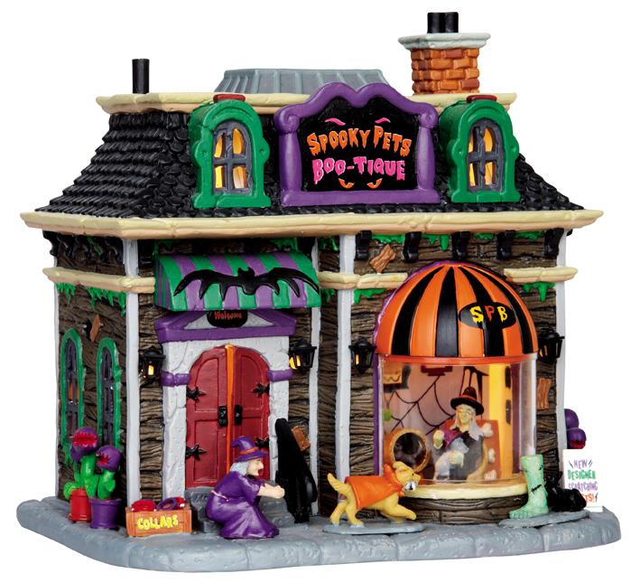 Spooky Pets Boo-tique Lemax Village