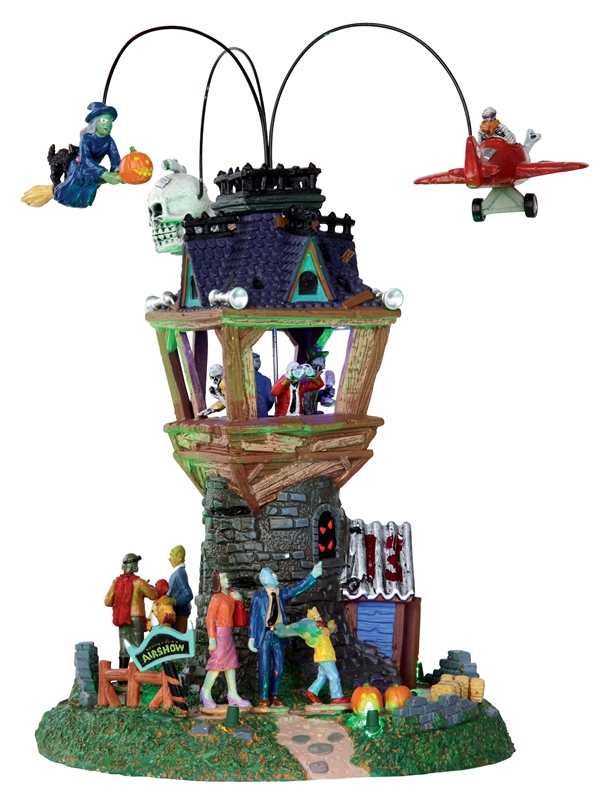 Spooky Town Airshow, Set Of 2 Lemax Village