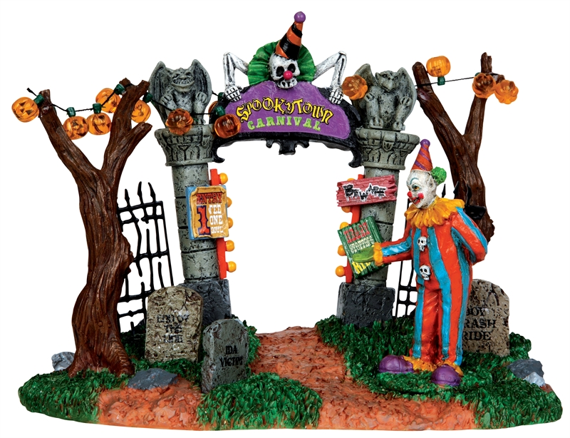Spooky Town Carnival Gate Lemax Village