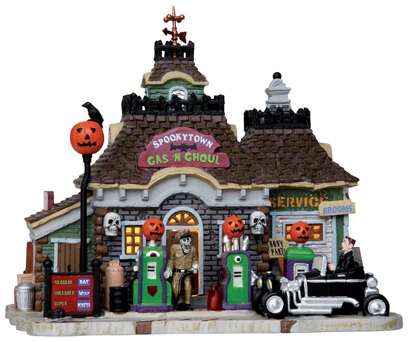 Spooky Town Gas 'n Ghoul Lemax Village