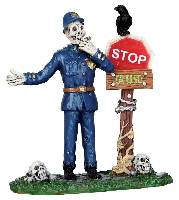 Spooky Town Traffic Guard Lemax Village