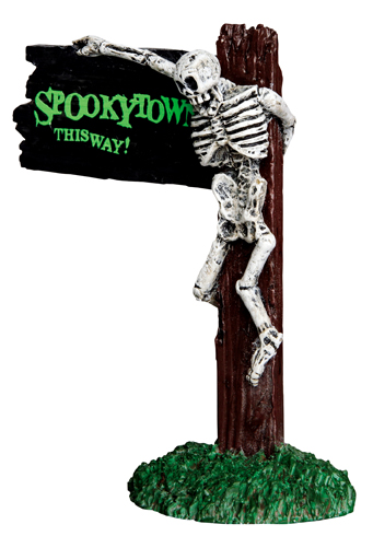 Spookytown This Way Lemax Village