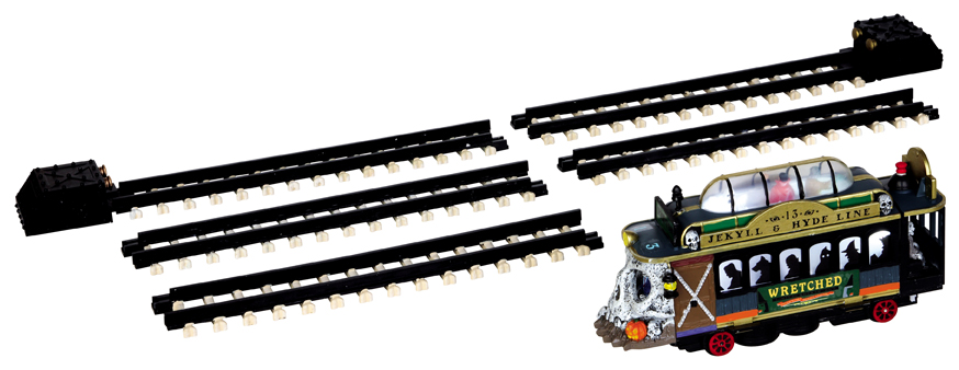 Spookytown Trolley, Set Of 6 Lemax Village
