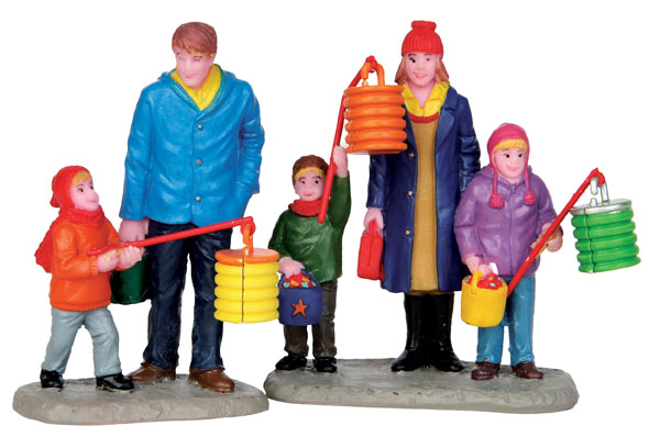 St. Marten's Day Frolic  Set Of 2 Lemax Village