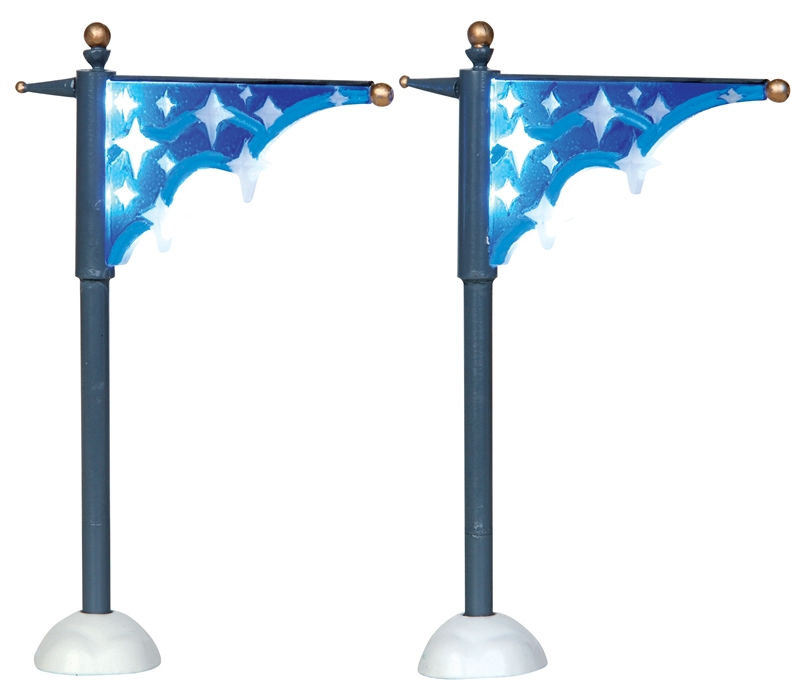 Star Street Banner, Set Of 2 Lemax Village