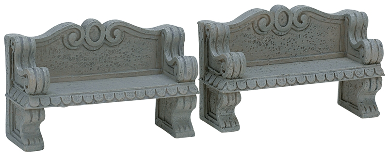 Stone Bench, Set Of 2 Lemax Village