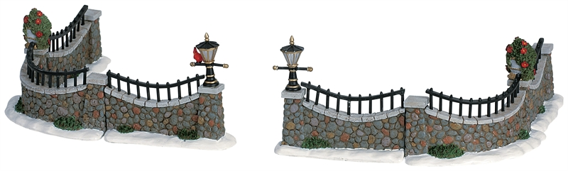 Stone Wall, Set Of 6 Lemax Village