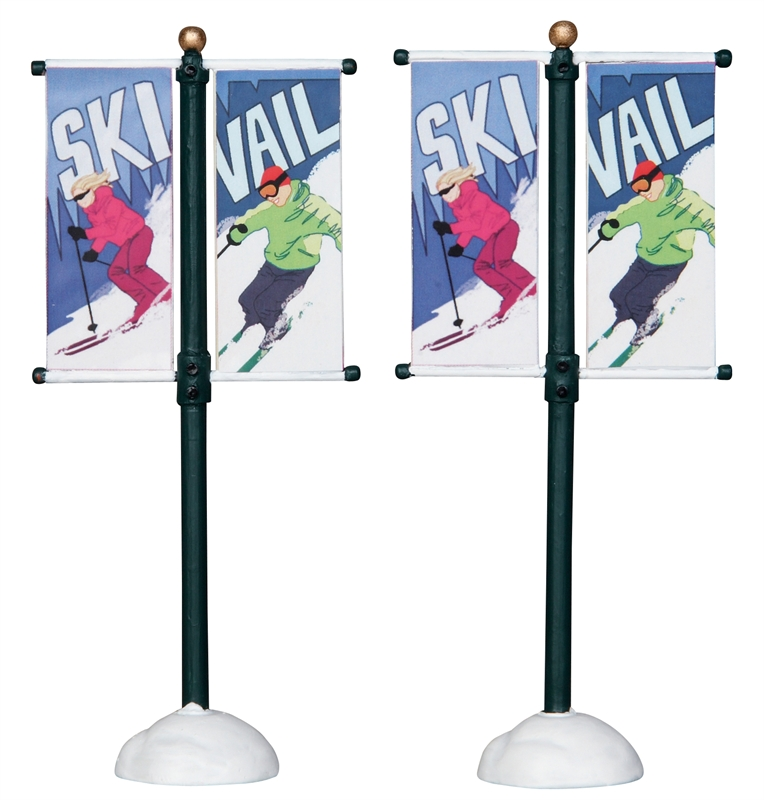 Street Pole Banner, Set Of 2 Lemax Village