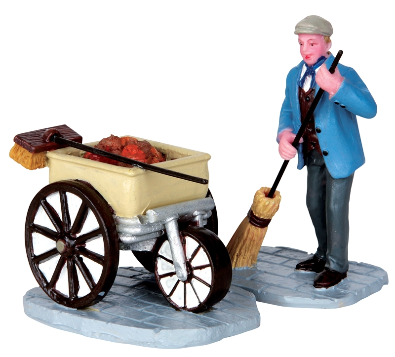 Street Sweeper, Set Of 2 Lemax Village