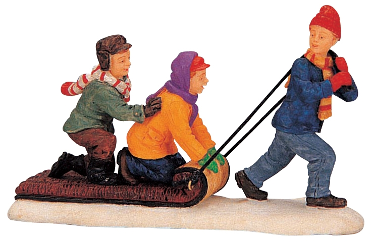 The Toboggan Tug Lemax Village