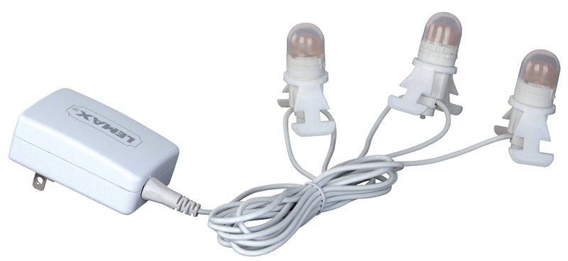 Three Led Light Cord Lemax Village