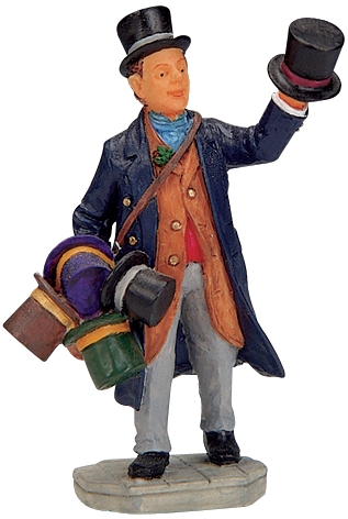Top Hat Peddler Lemax Village