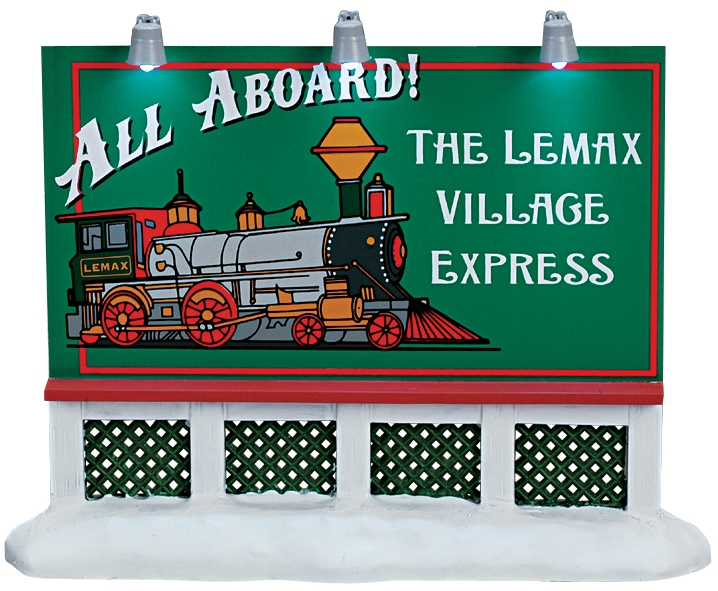 Train Billboard Lemax Village