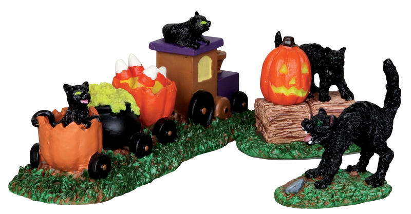 Trick-or-treat Train, Set Of 3 Lemax Village