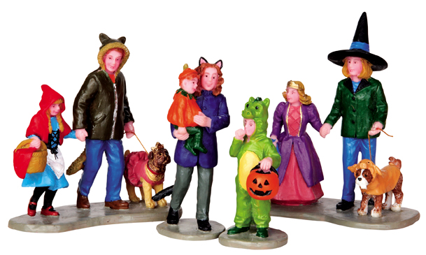Trick Or Treating Fun, Set Of 4 Lemax Village