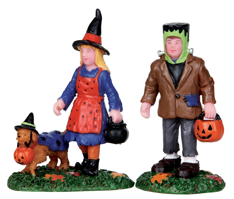 Trick Or Treating Trio, Set Of 2 Lemax Village