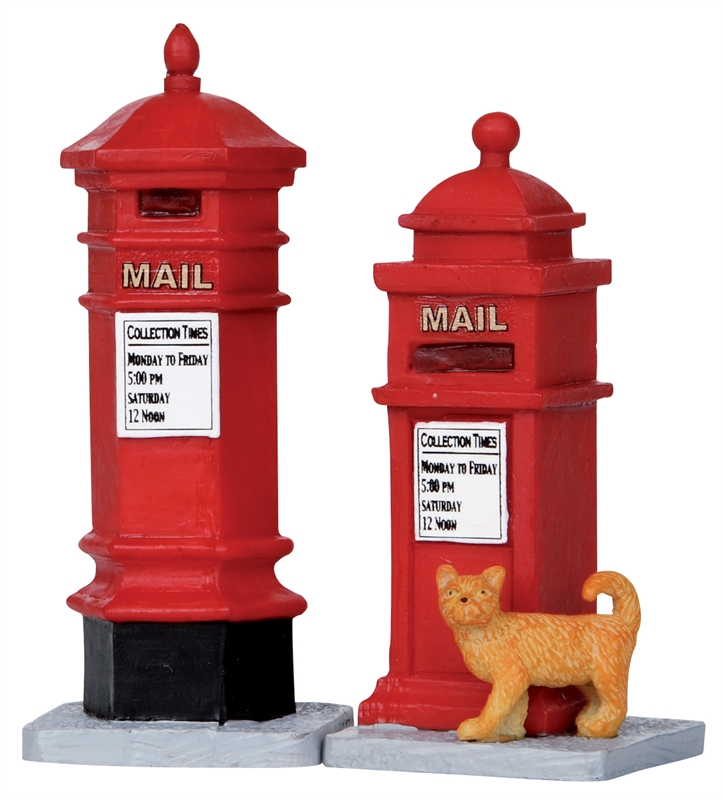 Victorian Mailboxes, Set Of 2 Lemax Village