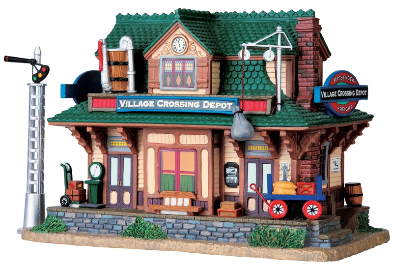 Village Crossing Depot, Set Of 2 Lemax Village