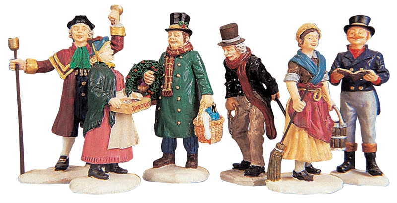 Village People Figurines, Set Of 6 Lemax Village