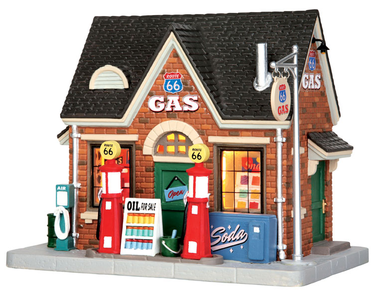 Vintage Gas Station Lemax Village