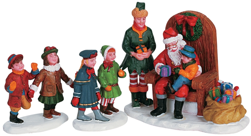 Visiting Santa, Set Of 3 Lemax Village