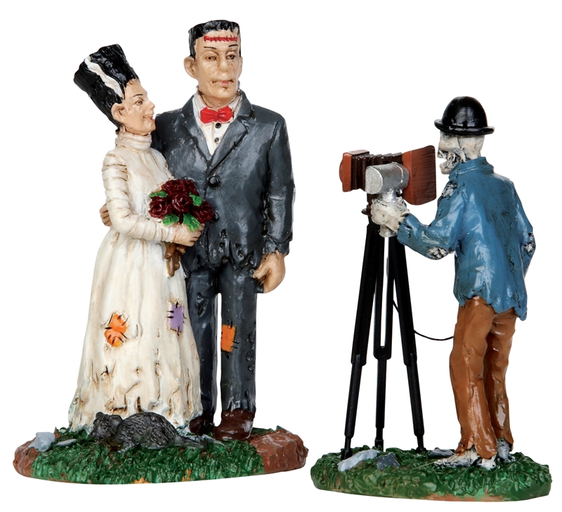 Wedding Photo, Set Of 2 Lemax Village