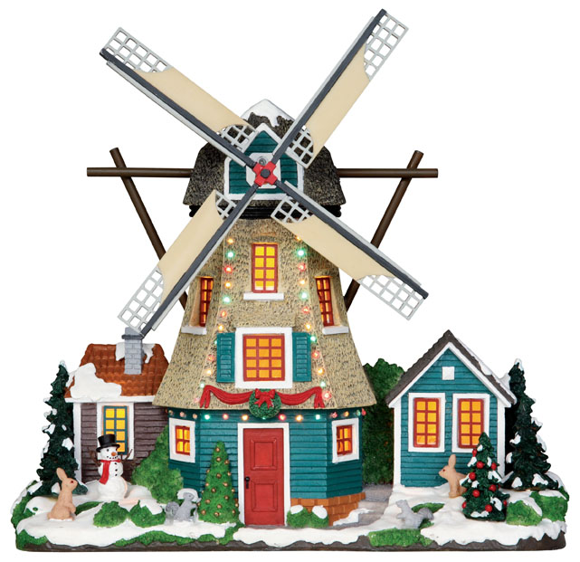 Windmill  Set Of 2 Lemax Village
