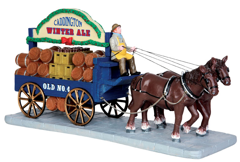Winter Ale Wagon Lemax Village