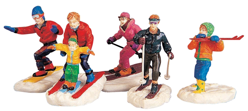 Winter Fun Figurines, Set Of 5 Lemax Village