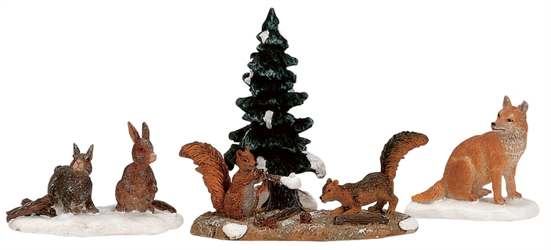 Woodland Animals, Set Of 4 Lemax Village