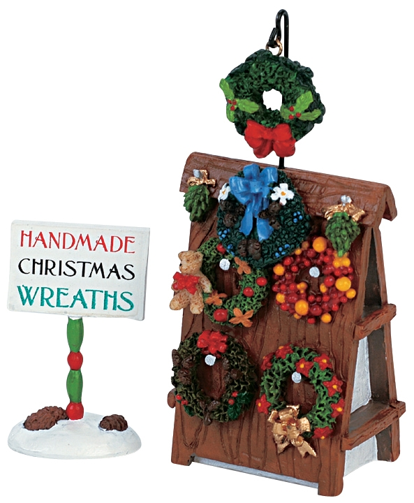 Wreath Display, Set Of 2 Lemax Village