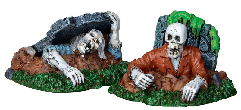 Zombies, Set Of 2 Lemax Village
